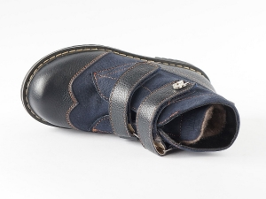 "Ортопедические демисезонные ботинки 401-1-М  ( ТМ ""Zdrava Obuvka"", Украина)"